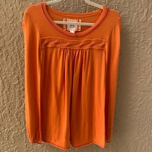 Chelsea & Violet Orange Long Sleeve Top - Small